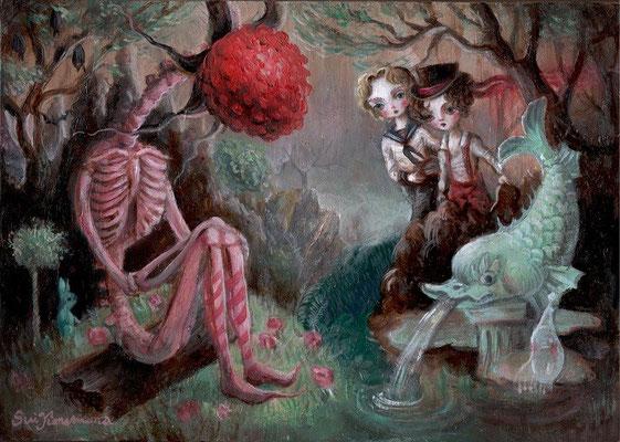 2016  彷徨う子供たち(神曲に捧ぐ)/B5/ oil painting