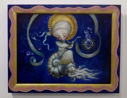 2015-2016 夢遊病者 ミカエルの祈祷文と共に / F6size / mixed madia / SOLD
