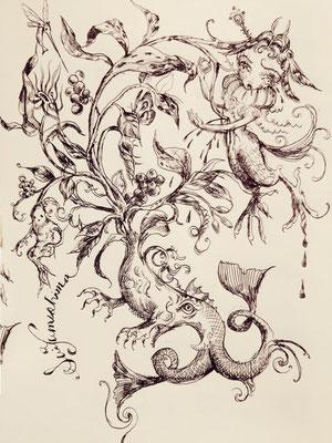 drawing/ 身をも心をも弑する樹木の詩