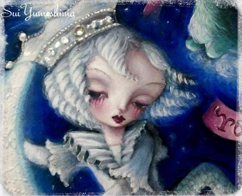 """2015 """"Aquarius"""" Oil on canvas mixed media  / 30cm×30cm /"""