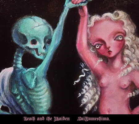 2016  Death and the Maiden  / F12size / oil painting  好きな題材