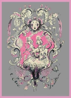 2015 線画:ペン/着彩:PC 「双子の流れ星」