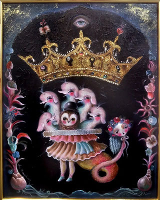 2016 博識の悪魔 /F6/ oil painting    SOLD