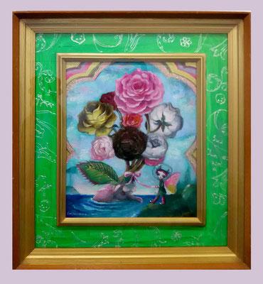 2016 ペルセポネーの花束 /F3/ oil painting    sold