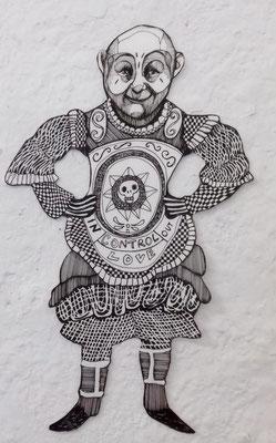 "Gaukler (""Control"") ca. 20 cm Fineliner auf Papier"