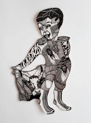 Torero ca. 32 x 59 cm Fineliner auf Papier