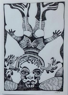 Sinfonie 21 x 29,7 cm Tuschestift auf Papier