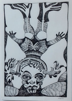 Sinfonie 21 x 29,7 cm Fineliner auf Papier