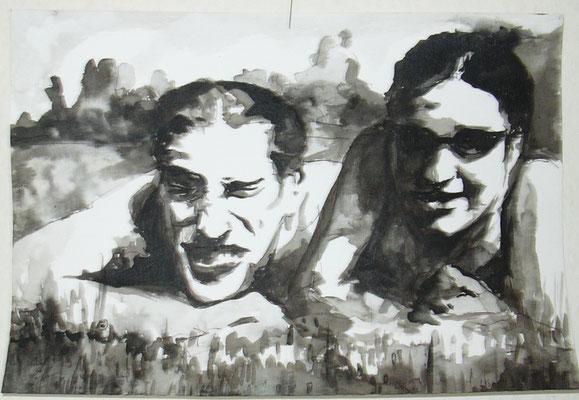 Liegewiese  21 x 29,7 cm  Tusche auf Papier