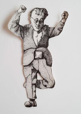 Spielen und Springen (1) 27 cm Fineliner auf Papier