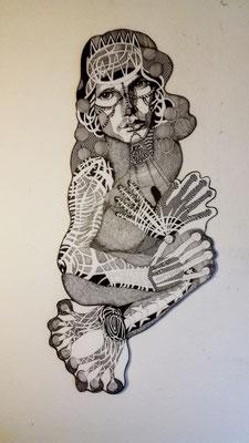 Der Lizard King ca. 60 x 90 cm Tuschestift auf Papier