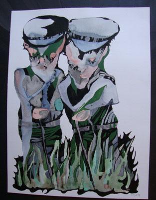 Bei Boberg 30 x 40 cm   Aquarell/Tusche auf Papier
