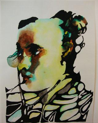 Das junge Mädchen 30 x 40 cm  Aquarell und Tusche auf Papier