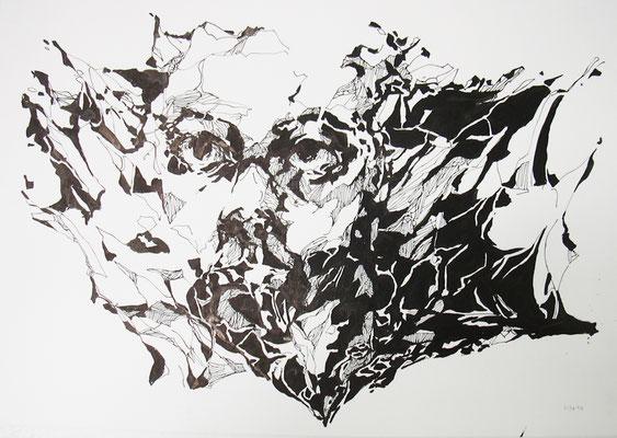 HerzCAnibal  50 x 70 cm  Tusche auf Papier