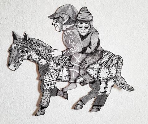 in einem Traum ca. 64 x 80 cm Fineliner auf Papier