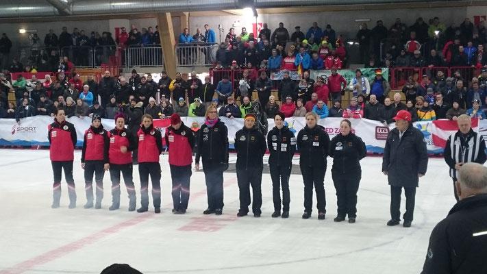 Einzug Finale Damen Deutschland vs. Österreich