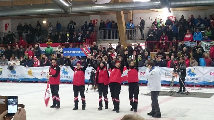 Weltmeisterinnen 2018 Österreich