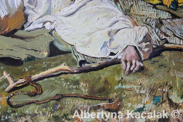 "Fragment 5 Replica of ""Indian Summer"" (""Babie lato"" PL ) J. Chełmonski, 100x80 cm, oil on canvas, 2018"