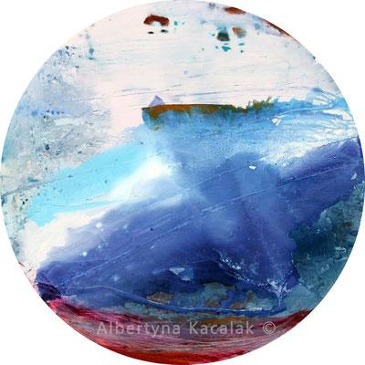 Snow-flurry, tondo 130cm, oil, acrylic , resin on canvas, 2016 not available