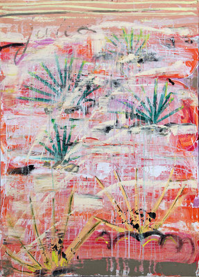 yucca 130x180cm, oil acrylic on canvas, 2017, SOLD