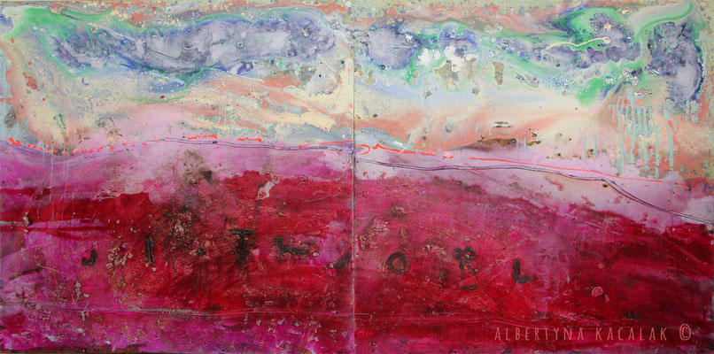 Planet II - GJ 504B, 280x140cm, oil, resin on canvas, 2014, not available
