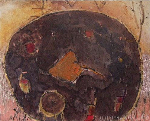 Umbrella, 100x80cm,  oil, resin on canvas, 2013