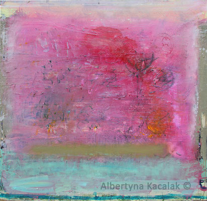 Pink morning, 150x150cm, oil acrylic, resin on canvas, 2017, not available
