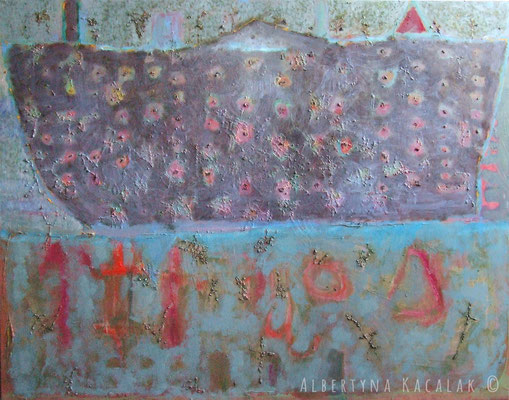 Ship, 150x190cm,  oil on canvas, 2012  not available