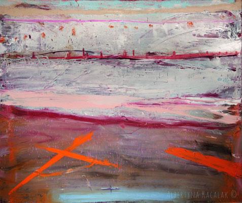 Oresund Bridge, 200x170cm, oil resin on canvas, 2015, not available
