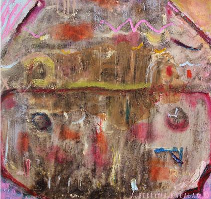 Home, 70x80cm,oil, resin on canvas, 2014, available in AKucharskiArt (info@akucharskiart.de)