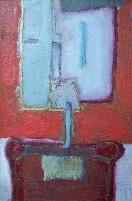 Figure on a red background , 80x120cm, oil on canvas, 2011, not available