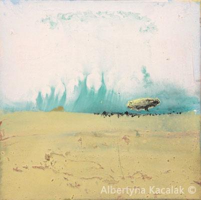 Zeppelin 4, 40x40cm, oil resin on canvas, 2016, available