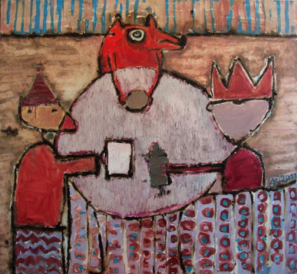 Feast, 110x100cm, oil resin on canvas, 2011, not available