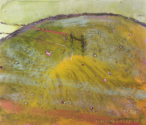 Gold meadow, 70x80cm, oil, resin on canvas, 2014  not available