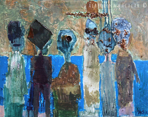 People, 110x140cm , oil on canvas, 2009, not available