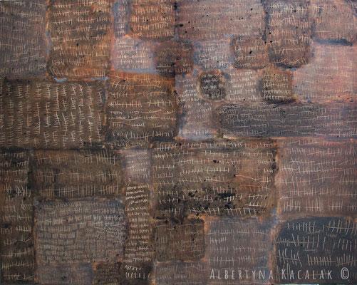 Marks I, 150x190cm, acrylic on canvas, 2012  not available