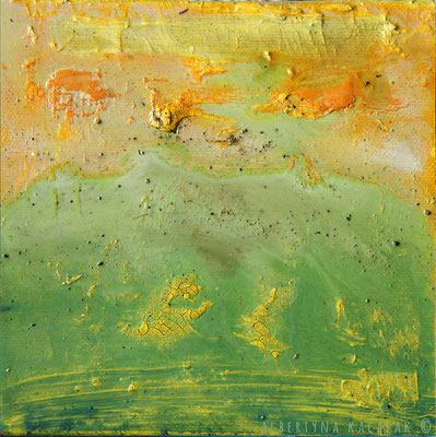 Green Mountain, 15x15cm, oil, resin on canvas, 2014 not available