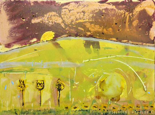Landscape 2, 100x130cm, oil, resin on canvas, 2014, not available