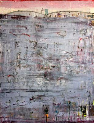 Desert, 170x130cm, resin oil on canvas, 2015, not available