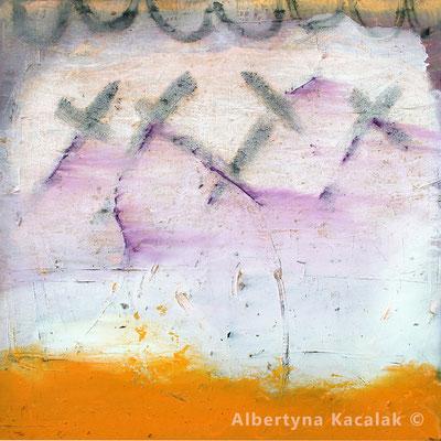 By the sea, 150x150cm, oil on canvas, 2018, available in AKucharskiArt (info@akucharskiart.de)