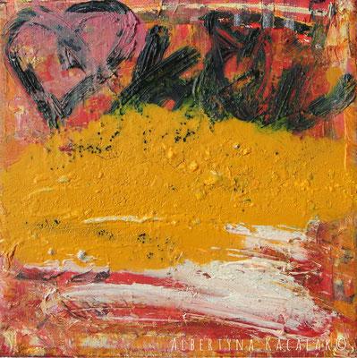 Heart, 20x20cm, oil on canvas, 2015, available