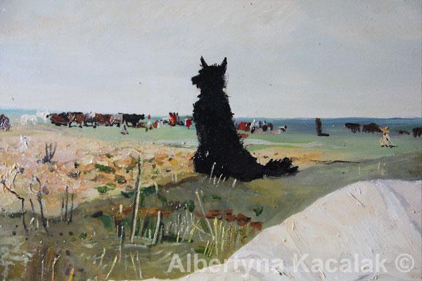 "Fragment 4 Replica of ""Indian Summer"" (""Babie lato"" PL ) J. Chełmonski, 100x80 cm, oil on canvas, 2018"