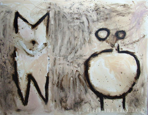 The mark - W o, 150x190cm,  oil, resin on canvas, 2012  not available