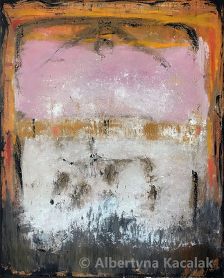 Home, 100x80cm, acrylic, oil, dry pigments on canvas, 2019 SOLD