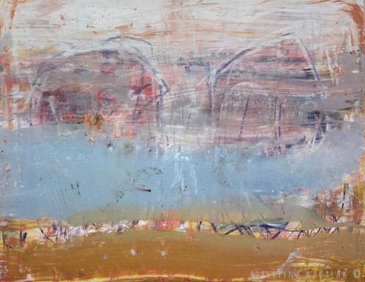 Alfa & Omega, 100x130cm, oil, resin on canvas, 2014  not available