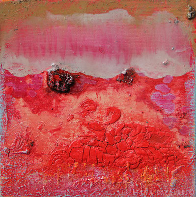 Lava, 15x15cm, oil, resin on canvas, 2014 not available