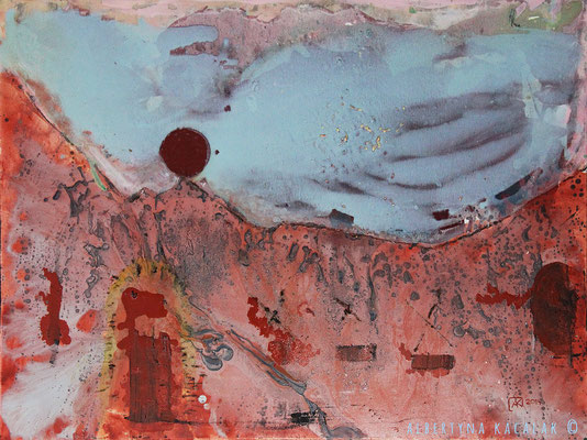 Landscape 1 - Madisa Camp, 100x130cm, oil, resin on canvas, 2014, not available