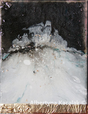 Iceberg, 24x18cm, oil, resin on canvas, 2019, not available