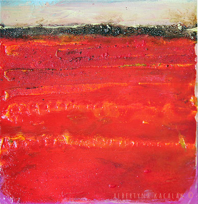 Red earth, 20x20cm, oil, resin on canvas, 2014,