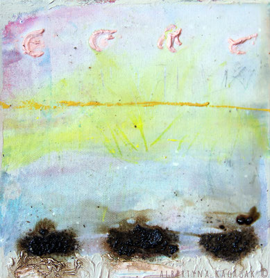 After the rain, 20x20cm, oil, resin on canvas, 2014, not available